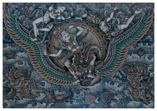 56. Hanoman and Surya, Gusti Ketut Kobot, 1960s, Collection of Museum Puri Lukisan