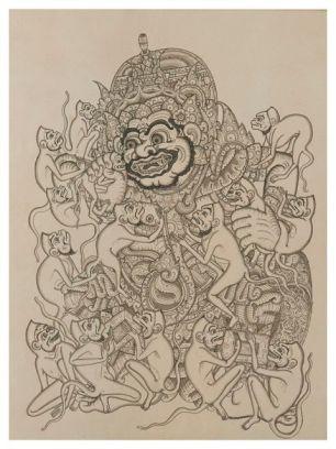36. Kumbakarna, Ketut Madra, 1973. Collection of David Irons