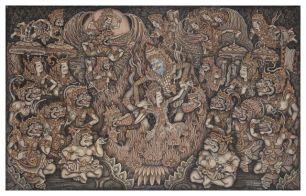 Sita's Ordeal by Fire/Sita Satya, Ketut Madra, 1973. Collection of Indranil Basu
