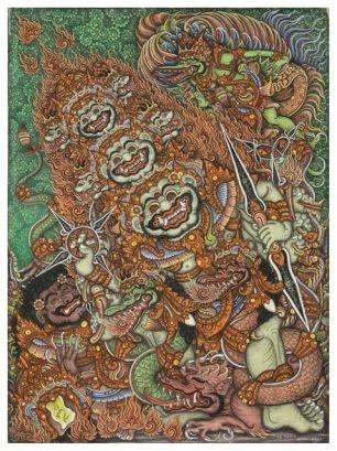 Boma and Kresna, Ketut Madra, 1973. Collection of David Irons