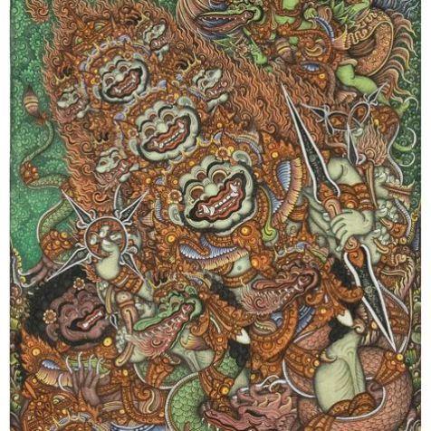 Boma and Kresna, Ketut Madra, 1973. Collection of Ian Caldwell