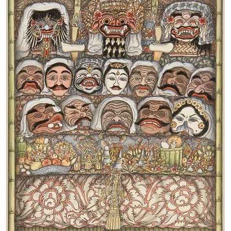 Sacred Mask Temple Ceremony, Ketut Madra, 1989. Collection of David Irons