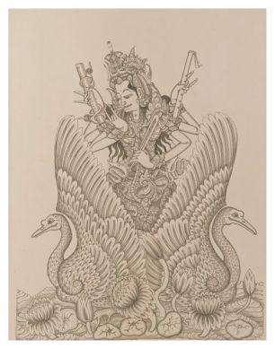 Sanghyang Aji Saraswati, Ketut Madra, 1973. Collection of David Irons