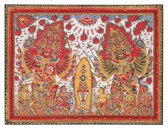 7. Brahma, Siwa, and Wisnu, Mangku Mura (1920-1999), 1973. Collection of Mangku Muriati, Kamasan