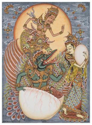 The Birth of Aruna, Ketut Madra, 2000, Collection of Ketut Madra