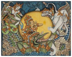 Hanoman and Surya, Ketut Madra, 1972, Collection of Museum Puri Lukisan