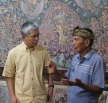 Ketut Madra (right) with Soemantri Widagdo of Ubud's Museum Puri Lukisan.