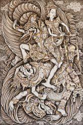Jatayu Battles Rawana, Ketut Madra, 1995