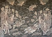 Arjuna and Kresna in Battle with Karna and Salya, Ketut Madra, 2013.