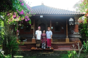 At home in June 2011, Ketut Madra with his wife Wayan Konderi and son Made Berata.